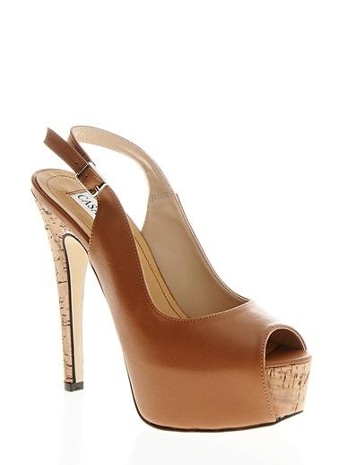 Casa Rossi Platform Topuklu Ayakkabı Camel